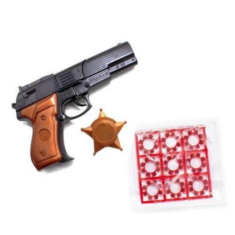 Пистолет Shahab с пистонами и звездой шерифа 124, фото 2