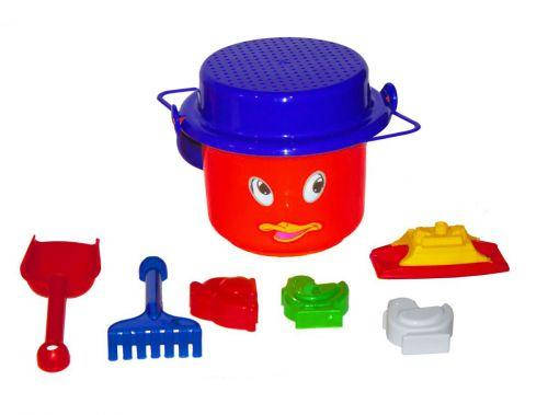 Песочный набор Глазки, 8 предметов (красный) МГ 110, фото 2