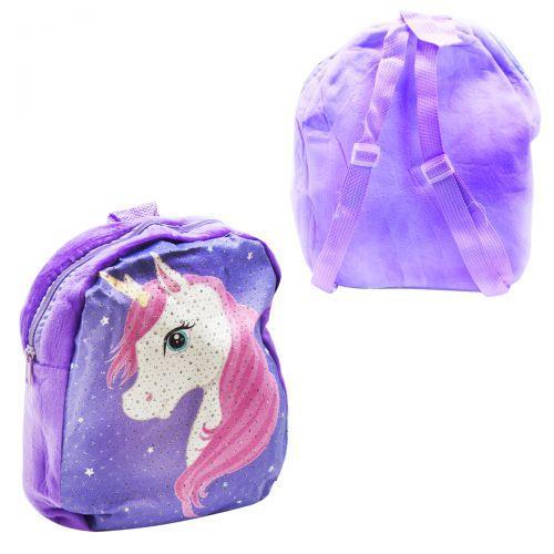 Мягкий рюкзак Единорожек (фиолетовый) C37867