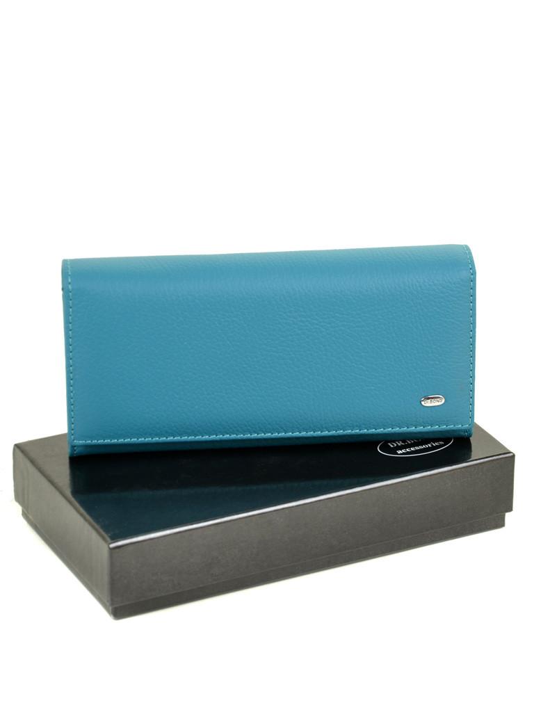 Кошелек Classic кожа DR. BOND W807-2 l-blue