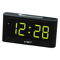 Настольные часы от сети+батарейка VST-732 Y Настольные электронные часы будильник