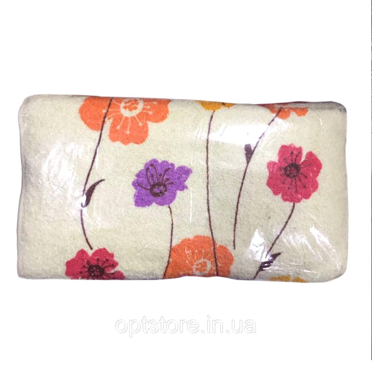 Полотенце кухонное с цветочками 35*70 см, ткань махра