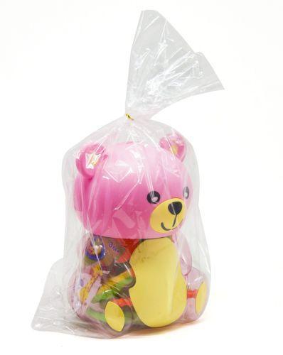 Погремушки в колбе Мишка розовый