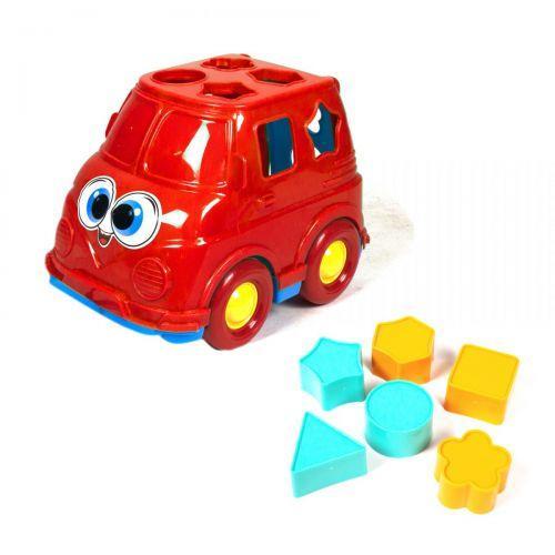 Автобус-сортер (красный)