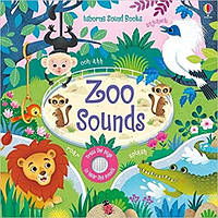 Детская звуковая книга Usborne Zoo Sounds Books. Sam Taplin.