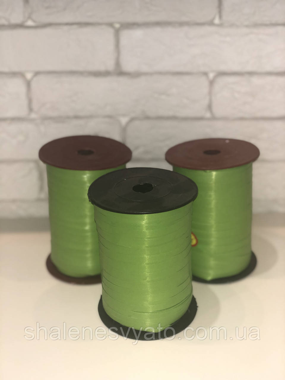 Лента для шаров зелёная 0,5/400 Украина