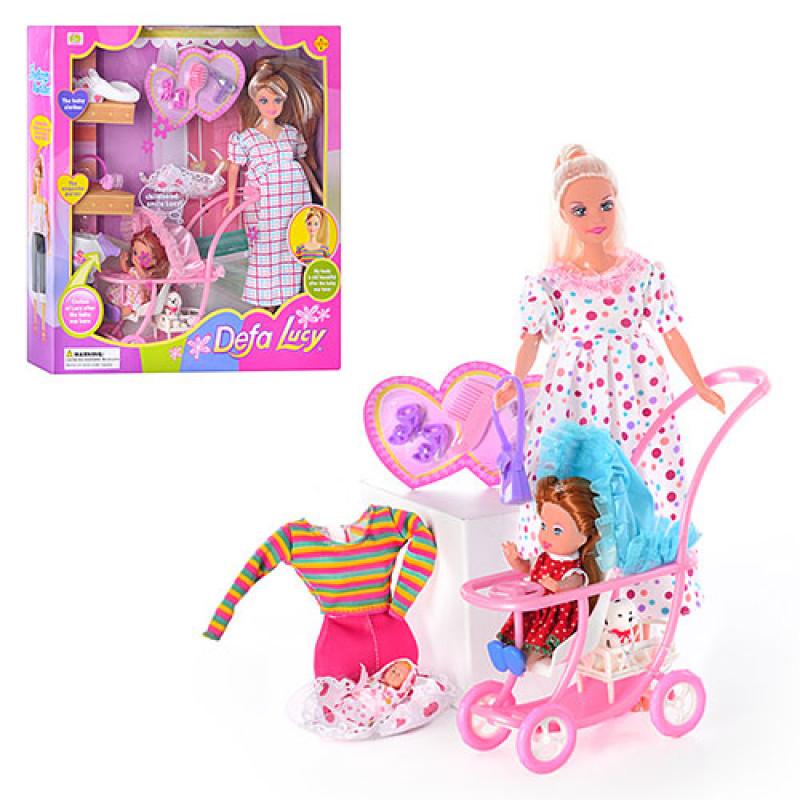 Кукла Defa беременная с аксес. и дочкой