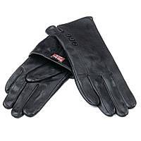Перчатка Женская кожа F24/19-1 мод3 black флис