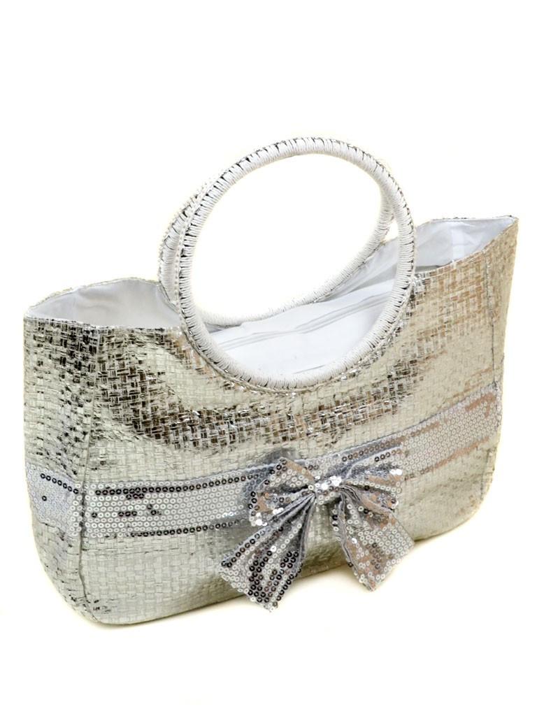 Сумка Женская Корзина текстиль PODIUM PC5491R natural silver
