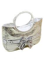 Сумка Женская Корзина текстиль PODIUM PC5491R natural silver, фото 1