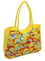 Сумка Женская Пляжная текстиль Podium /1323 yellow