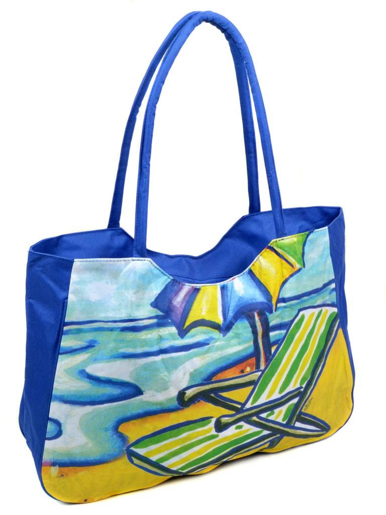 Сумка Женская Пляжная текстиль Podium /1328 blue
