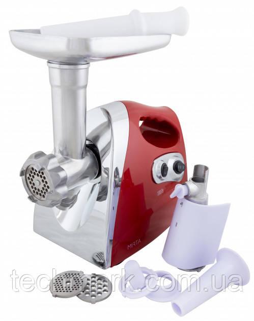 Электро мясорубка MIRTA MG-2018 Red с соковыжималкой для томатов