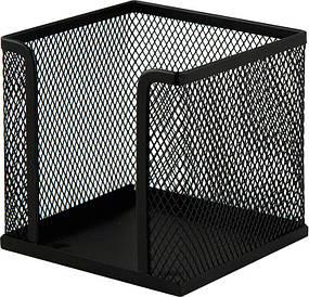 Куб для паперу Buromax бокс 100х100х100мм метал. чорний BM.6215-01