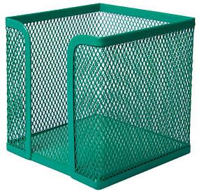 Куб для паперу Buromax бокс Buromax 100х100х100мм металевий зелений (BM.6215-04)