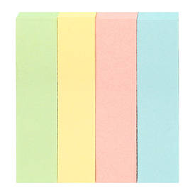 Закладки Axent паперові 4х12х51мм 400 шт прямокутний з к D3445-01