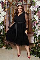Женское нарядное платье большого размера.Размеры:48/50,52/54,56/58+Цвета, фото 1