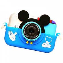 Детский фотоаппарат Микки Маус Children`s fun цифровой 28 Мп 1080FHD Синий