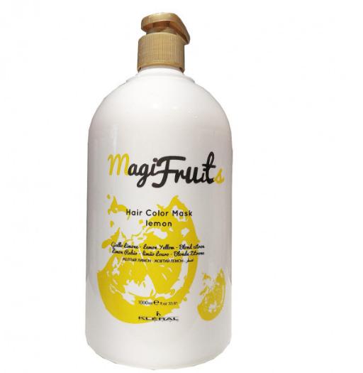 Маска KLERAL Magifruit Color mask Lemon с пигментом Золотистый Лимон 1000 мл