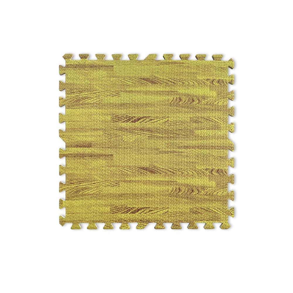 Напольное модульное покрытие «Мягкий пол пазл» Рыжего цвета