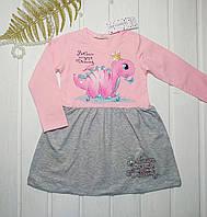 Платье нарядное для девочки с Динозавриком  Размер   104 110 116 128, фото 1