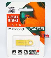 USB флешка Mibrand Puma 64GB Gold (MI2.0/PU64U1G)