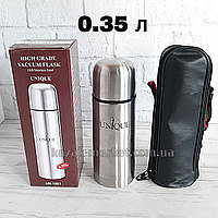 Термос UNIQUE UN-1001 0.35 л / Термос для чая / Термос для кофе / Термос для воды / Туристический термос