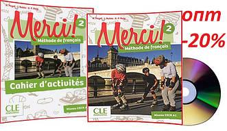 Французский язык / Merci/ Livre+Cahier Activites. Учебник+Тетрадь (комплект), 2/ CLE International