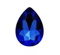 Стразы кристаллы Капля 13*18мм Сапфир стекло (цена за 5шт.)