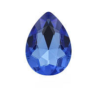 Стразы кристаллы Капля 13*18мм светлый Сапфир стекло (цена за 5шт.)