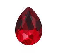 Стразы кристаллы Капля 13*18мм красные Siam стекло (цена за 5шт.), фото 1
