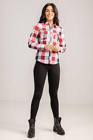 Стильная  рубашка в клетку с длинным рукавом свободного кроя в размере S/M и L/XL.