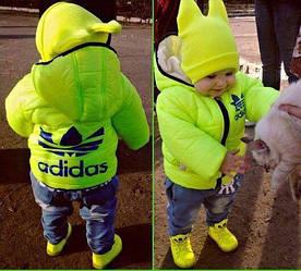 Детская куртка неон цвет