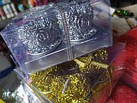 """Набор """"Роза-сердце"""" свечи декоративные золото/серебро 4 шт"""