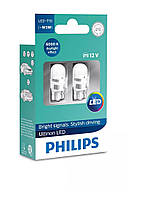 LED лампа T10 (бесцокольная W5W) Philips Ultinon LED (11961ULWX2)