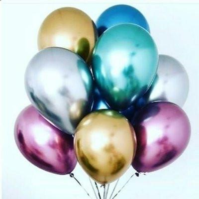 Набор   воздушных шаров  ХРОМ Ассорти  5 шт