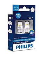 LED лампа T10 (бесцокольная W5W) Philips X-tremeUltinon LED 4000K (127994000KX2), фото 1