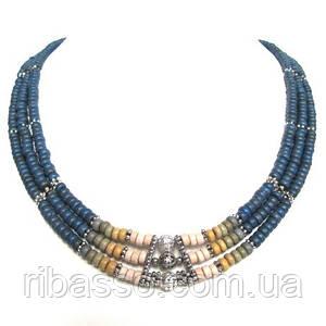 """Кольє, браслет, сережки """"Шарлотта"""" - кераміка спектр"""