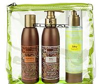 Набор Kleral System Macadamia Kit (шампунь 150 мл, маска 150 мл, флюид 100 мл) косметичка