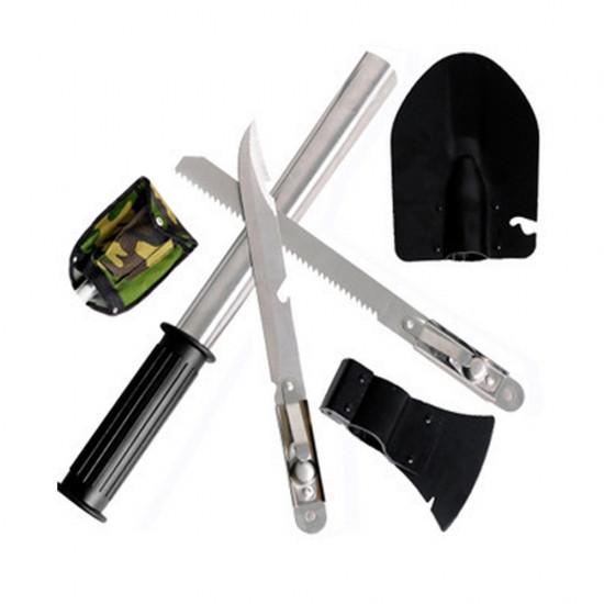 Набір похідний 5 в 1. Лопата, відкривачка,пила, сокира, ніж