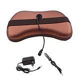 Массажная подушка автомобильная с ИК-подогревом массажер Шиацу, фото 2