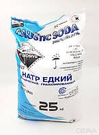 Сода каустическая гранулированная, легкорастворимая, мешок 25 кг, каустик, натрий едкий