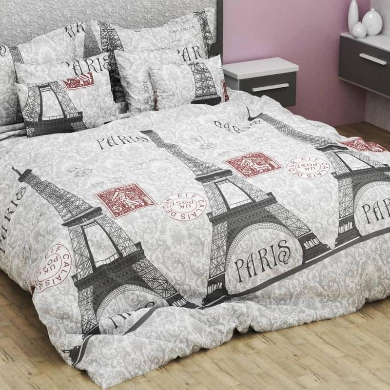 Комплект постельного белья Евро размер 200х215 см постельный набор наволочки 70х70 2 шт
