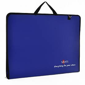 Папка-портфель SANTI для эскизов А2, (450x39x715мм), синяя