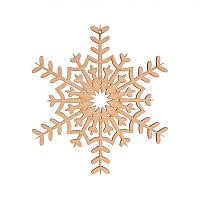Фигура Yes! Fun из фанеры 0.4 ''Снежинка декоративная №3'', d-12 см