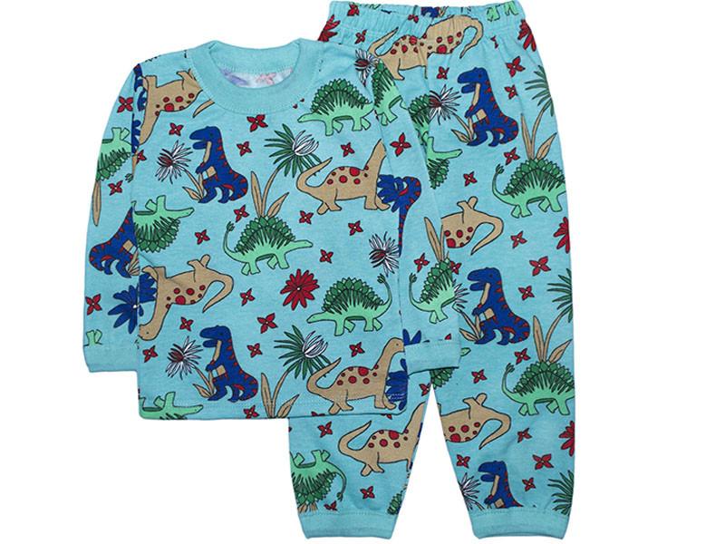 Детская пижама с начесом для мальчика Динозавры