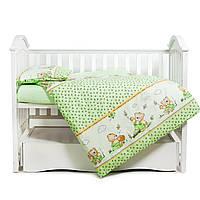 Дитяче постільна білизна в ліжечко Twins Comfort З-009 Медуни green, 3 елемента