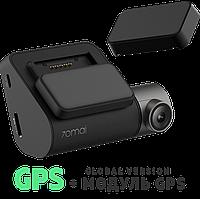 """Видеорегистратор Xiaomi 70mai Smart Dash Cam Pro + GPS-модуль, Русская прошивка, 140°, Wi-Fi, Дисплей 2"""""""