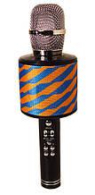 Караоке-микрофон портативный DM K-319, сине-желтый