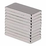 Магниты неодимовые сильные 40x10x3мм N35 10шт, фото 2